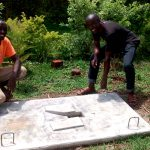 The Water Project: Elukani Community, Ongari Spring -  Sanitation Platform