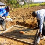 The Water Project: Esembe Community -  Sanitation Platform Construction
