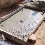 The Water Project: Bumavi Community, Esther Spring -  Sanitation Platform Construction