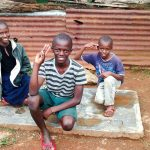 The Water Project: Bumavi Community, Esther Spring -  Sanitation Platform