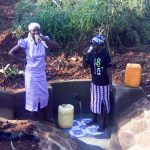 The Water Project: Sharambatsa Community, Mihako Spring -  Clean Water