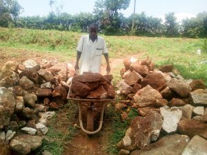 The Water Project:  Gathering Stones For Construction