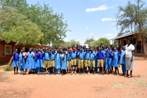 The Water Project:  Students And Headteacher