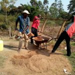 The Water Project: Shihingo Community -  Men Helping Sift Sand For Construction
