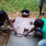 The Water Project: Mwichina Community -  Sanitation Platform Construction
