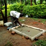 The Water Project: Elukani Community, Ongari Spring -  Sanitation Platform Construction