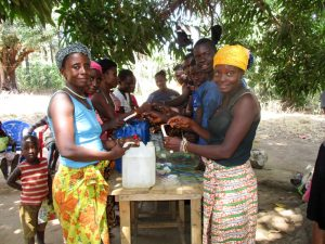 The Water Project:  Building Handwashing Stations