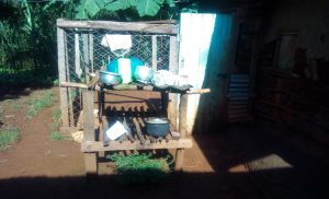 The Water Project:  Kenya A Sample Dishrack