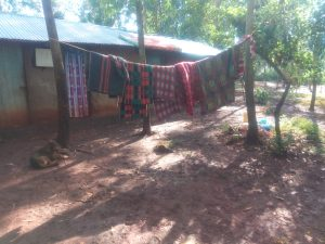 The Water Project:  Kenya Clothes Hang To Dry On The Line