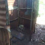 The Water Project: Shirakala Community -  Kenya Latrine With Metal Siding