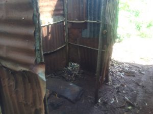 The Water Project:  Kenya Latrine With Metal Siding