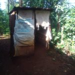 The Water Project: Shirakala Community -  Kenya Sample Latrine With Sacks As Doors