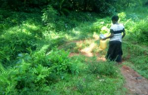 The Water Project:  Kenya Walking To Spring To Collect Water