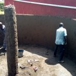 The Water Project: George Khaniri Kaptisi Mixed Secondary School -  Constructing Tank Walls