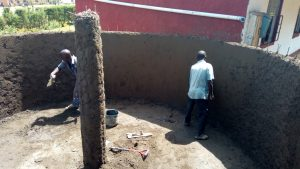 The Water Project:  Constructing Tank Walls