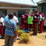 The Water Project: George Khaniri Kaptisi Mixed Secondary School -  Handwashing Demonstrations