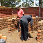 The Water Project: George Khaniri Kaptisi Mixed Secondary School -  Laying Bricks For Latrines