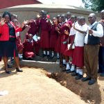 The Water Project: George Khaniri Kaptisi Mixed Secondary School -  Students And Staff Post With New Tank