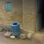 The Water Project: Emulakha Community, Alukoye Spring -  A Plastic Liter Water Tank Used To Collect And Store Rain Water
