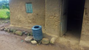 The Water Project:  A Plastic Liter Water Tank Used To Collect And Store Rain Water