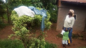 The Water Project:  Clothes Dry On Bush