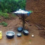 The Water Project: Emulakha Community, Alukoye Spring -  Improvised Dishrack