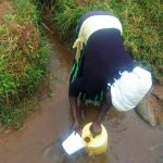 The Water Project: Emulakha Community -  Woman Fills Container With Water At Source