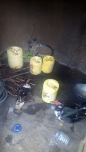 The Water Project:  Water Containers In A Kitchen