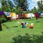 The Water Project: Handidi Community C -  Clothes Drying On The Clothes Line