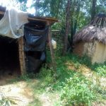 The Water Project: Handidi Community, Chisembe Spring -  Sample Latrine