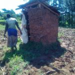 The Water Project: Mukhangu Community, Okumu Spring -  Mud Walled Latrine