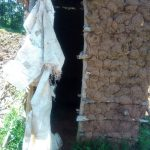 The Water Project: Mukhangu Community, Okumu Spring -  Sample Latrine