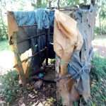 The Water Project: Irumbi Community, Okang'a Spring -  A Bathroom Made Of Plastic Paper Bags