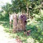 The Water Project: Irumbi Community, Okang'a Spring -  Bathroom Made Of Dry Maize Stalks