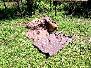 The Water Project:  Bedding Left To Dry On The Ground