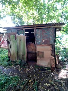 The Water Project:  Latrine Made Of Old Iron Sheets