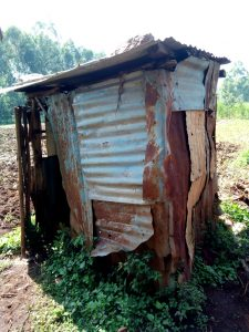 The Water Project:  Latrine With Metal Sides And Metal Roof