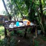 The Water Project: Irumbi Community, Okang'a Spring -  Sample Dishrack