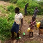 The Water Project: Burachu B Community A -  Children Heaing To Fetch Water At The Spring