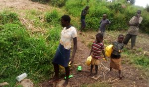The Water Project:  Children Heaing To Fetch Water At The Spring