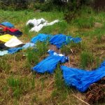 The Water Project: Burachu B Community A -  Clothes Left To Dry On Grass