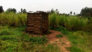 The Water Project:  Latrine Made With Mud Walls And Metal Roof