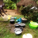 The Water Project: Burachu B Community A -  Utensils Washed And Left On The Ground To Dry