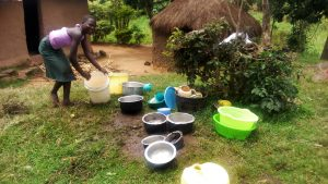 The Water Project:  Utensils Washed And Left On The Ground To Dry