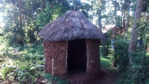 The Water Project:  Grass Thatched Roof Latrine