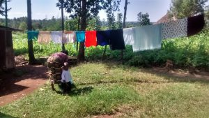 The Water Project:  Washing And Hanging Clothes