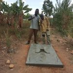 The Water Project: Futsi Fuvili Community, Simeon Shimaka Spring -  Completed Sanitation Platform
