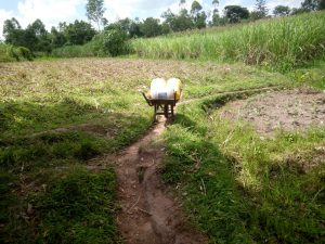 The Water Project:  A Wheelbarrow Used To Transport Water To Households