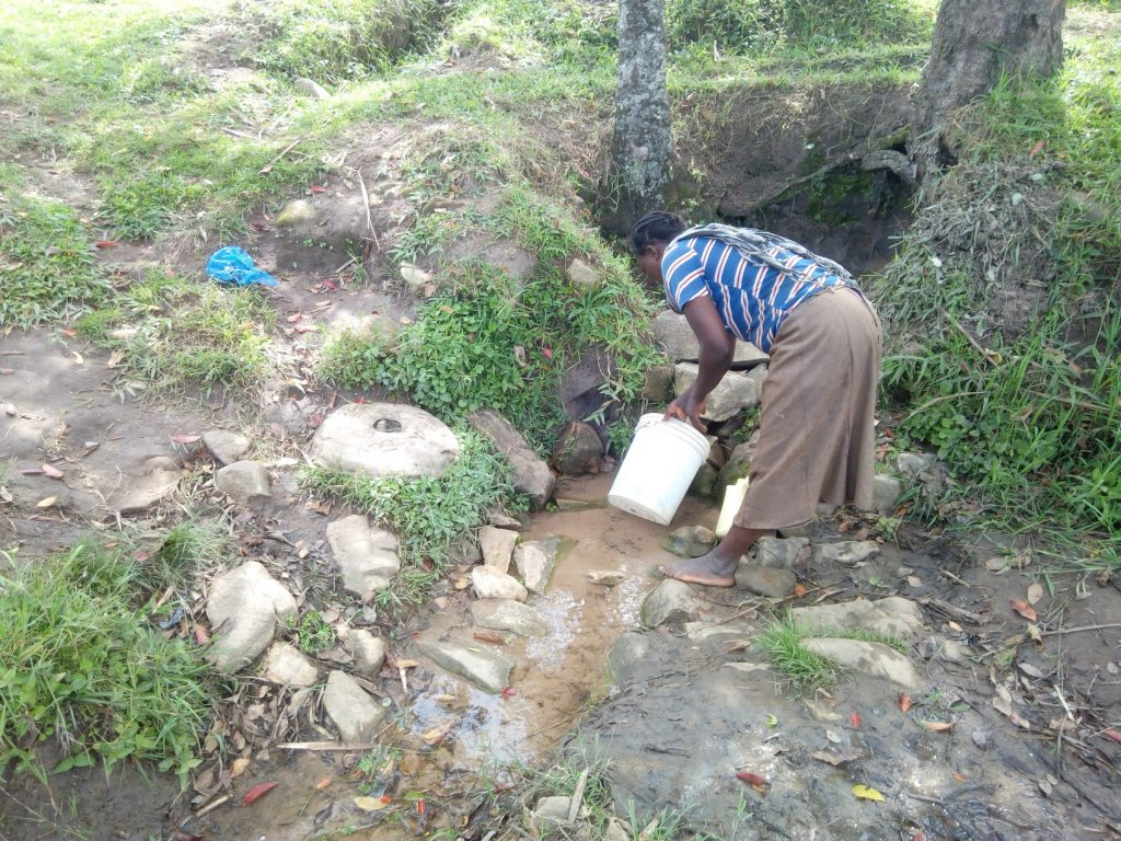 The Water Project : kenya18156-fetching-water