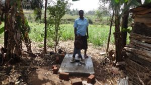 The Water Project:  Standing With New Latrine Platform